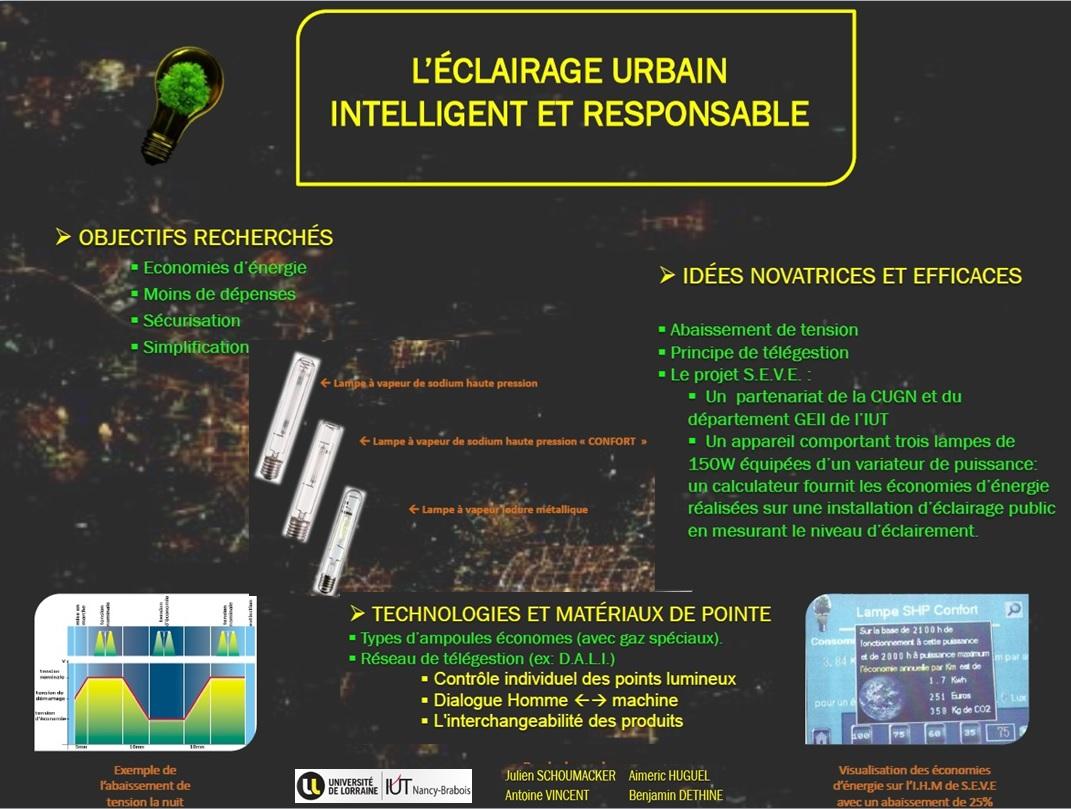 Eclairage urbain responsable